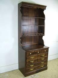 vintage ethan allen old tavern antique pine bookcase shelves hutch