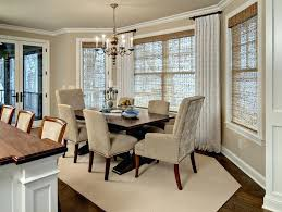 Curtains For Dining Room Windows Formal Window Treatment Ideas Stylish Incredible Drapery Bay