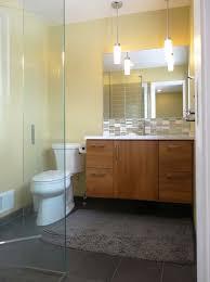 grey matt wall ceramic tiles mid century modern bathroom lighting