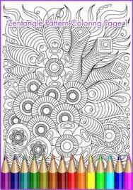Printable Coloring Page Zentangle Pattern PDF Zendoodle Sheet