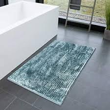 details zu meisterei chenille badematte coral pastellblau badvorleger badeteppich vorleger