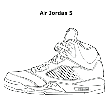 Sneaker Coloring Book Free Download App Nike Jordan Air Jorn Good Artist