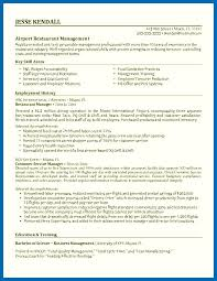 Objective For Resume Restaurant Best Airport Manager Unit With Employment Career History And Key Skills Area Samples
