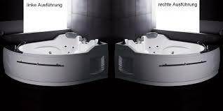 whirlpool badewanne eckeinbau oval raumspar whirlpoolwanne badewanne bad am113jdtsz aqualuxbad shop