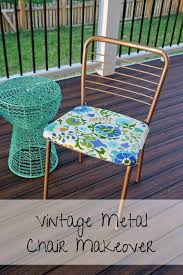 Vintage Metal Chair Makeover | DIY | Vintage Metal Chairs, Chair ... Leather Kitchen Chairs Perfect Inspiration About Chair Design Covers And Sashes Vanity Suppliers Wooden Wo Target Seat Vintage Plans Metal Stunning 8 Seater Ding Table And Argos Cover Childrens Drop Tag Archived Of Astonishing Black Walnut One Kohls Slip Pier Round Set Cushions Inspiring Room Non Fniture White Dunelm Iron Cane Folding High Nailhead Ashley Brown Homestore Back Slipcovers Upholstered