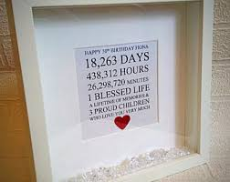 50th Birthday Gift Personalised Frame 21st 30th 40th 60th