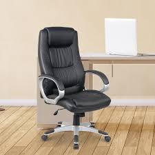 homcom executive high back office chair black aosom ca