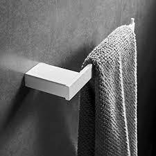 casewind einfach kurz handtuchhalter handtuchstange handtuchring edelstahl weiß modern design wandmontag badezimmer accessoires