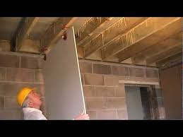 Hanging Drywall On Ceiling by How To Fit Plasterboard To Ceilings The Easy Way To Hang And