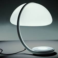 Martinelli Luce Serpente Modern Table Lamp by Elio Martinelli