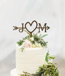Rustic Wedding Arrow Cake Topper Custom Beach
