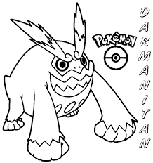 Very Attractive Pokemon Coloring Pages Darumaka Click To Print Preview Fire Darmanitan Page Throughout