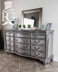 Grey Distressed Dresser Painted In Annie Sloan Chalk Paint French Linen Then A 16