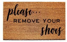 Please Remove Your Shoes Doormat