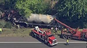 100 Tanker Truck Crash Tour Bus On NJ Turnpike NBC 10 Philadelphia