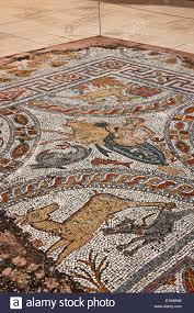 Beautiful Mosaic Roman Period On The Terrace Of Archaeological Museum Naxos Island