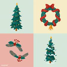 Set Of Hand Drawn Christmas Illustrations Free Stock Vector 488728