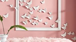 Trendy Ideas Pink Wall Decor In Conjunction With Best 25 Butterfly On Pinterest Diy Decorations And Paper Room
