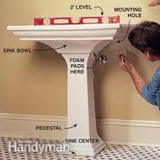 Aquasource Pedestal Sink Manual by How To Plumb A Pedestal Sink Family Handyman