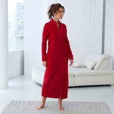 robe de chambre polaire femme zipp de chambre femme molleton