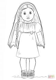 Girl Coloring Page American Doll Julie Free Printable Pages To Download