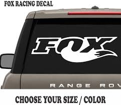 FOX RACING VINYL Decal For Truck Car MOTOCROSS Hood Graphic Shox ... Fox Racing Head Chrome Thermal Diecut Sticker Chapmotocom Heritage Decal Kits Fox Stickers For Car Windows Motocross Decals Shox Fork And Shock Kit Red Head 3 Sticker Imported Pins Patches Stickers Peek A Boo Decal Ami Grn Head 7 Inch Foxracingcom Official 36 Float Set 2017 Fanatik Bike Co B Stop 83 Street For Cars Mossy Oak Camo 85x10 Window Full Color