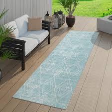 skandi teppich outdoor blau türkis balkon real de