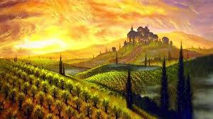 Wallpapers Of Green Scenery View Paintings Panoramic Summer Dreams Stunning Mountains Beautiful Colors Landscapes Sunsets Colorful Pre Vineyard