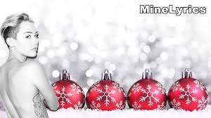 Rockin Around The Christmas Tree Karaoke Miley by Miley Cyrus My Sad Christmas Song Lyrics Youtube