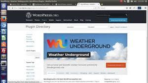 100 Wundergrond Installation Configuration Of Wunderground WordPress Plugin