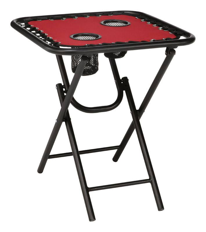 Living Accents Red Bungee Folding Table - 18""