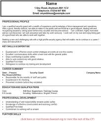 Awesome Security Officer Resume Examples And Samples Sample Guard Manqal Hellenes