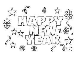 New Year Happy To Everyone Coloring Page
