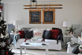 Our Rustic Christmas Living Room 2015