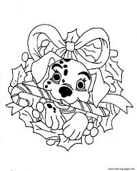 Dalmation Disney For Christmas Coloring Pagebd67 Pages Print Download