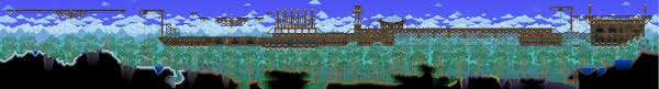 Terraria Halloween Event Arena by Weekly Building Contest Thread Sky Homes Terraria