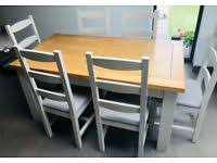 Solid Oak Extending Dining Tables And 6 Chairs