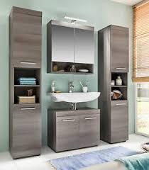 badmöbel badezimmer komplett set sardegna rauchsilber grau