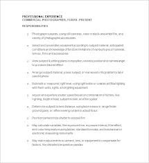 Photographer Resume Sample 15 Marvellous Template 17 Free Samples Examples Format