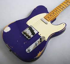 Fender Custom Shop 52 Telecaster Heavy Relic Purple Metallic