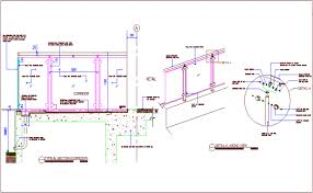 Glass Railing Sectional Detail With Construction View Dwg File