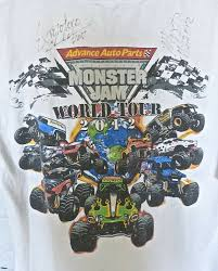 100 Ace Ventura Monster Truck Jam World Tour Mens Tshirt White M EBay