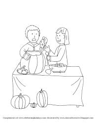 Pumpkin Carving Coloring Page 2