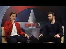 Chris Evans Sebastian Stan Civil War Press Tour Beijing Interview