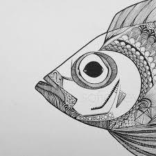 Best 25 Fish Zentangle Ideas On Pinterest