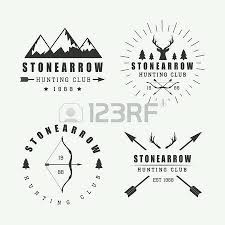 Set Of Vintage Hunting Labels Logos And Badges Royalty Free Cliparts Vectors Stock Illustration Image 45345650