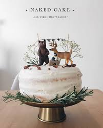 geburtstagstorte die tiere des waldes cake mit