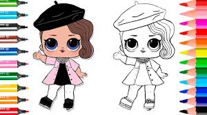 LOL Surprise Series 2 How To Draw Printable Posh Doll Coloring Page