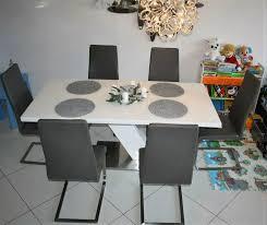 designer esszimmer set esstisch tisch m 6 stühlen leder np 2500