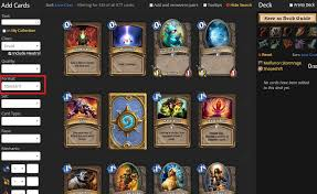 Hearthstone Deck Builder Tool by Whispers Of The Old Gods Now Live Hearthhead Now Supports Formats